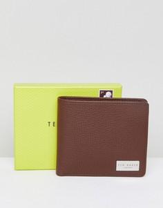 Кожаный бумажник с карманом для монет Ted Baker - Рыжий