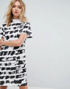 Платье-футболка с принтом Cheap Monday - Черный