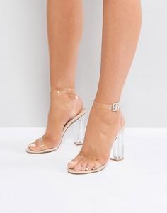 Босоножки на каблуке Public Desire Alia - Бежевый