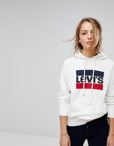 Худи с логотипом Levis - Белый