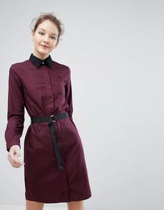 Платье-рубашка с поясом Fred Perry - Коричневый