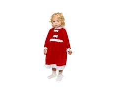Платье велюр Barkito «Новый год», красное