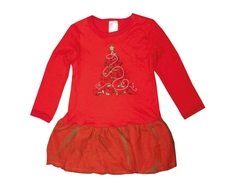 Платье-боди Barkito «Новый год», красное