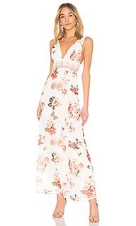 Платье-макси с глубоким v-образным вырезом natalie - MAJORELLE