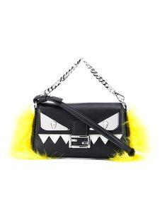 микро-сумка через плечо Baguette Fendi