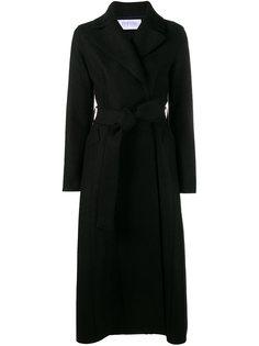 удлинное пальто с поясом  Harris Wharf London
