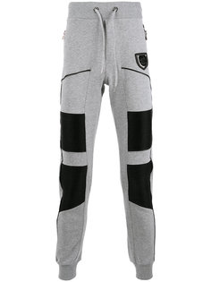 спортивные брюки с кожаной панелью Philipp Plein