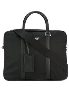 сумка для ноутбука со съемной лямкой Prada
