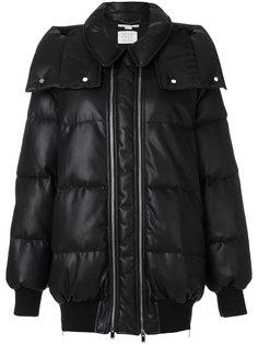 стеганое пальто с двухсторонней застежкой-молнией Stella McCartney