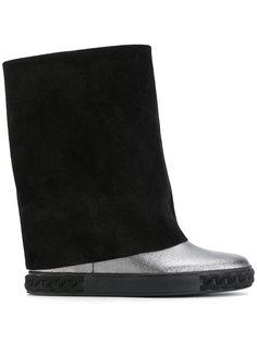 ботинки с эффектом цепочки на подошве Casadei
