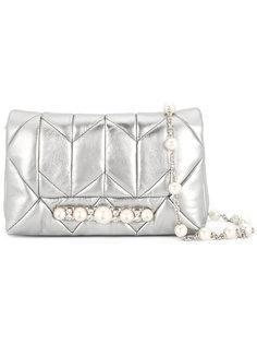 стеганая сумка с украшением из жемчуга Miu Miu