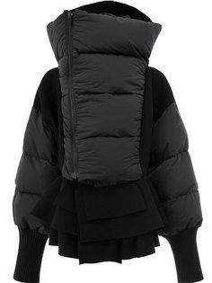 пуховое пальто свободного кроя Undercover