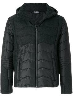 стеганая куртка с панельным дизайном Emporio Armani