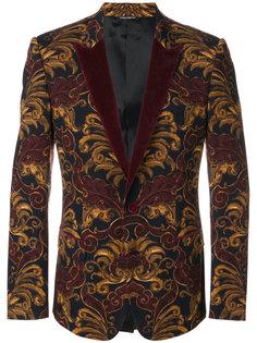 бархатный пиджак-смокинг  Dolce & Gabbana