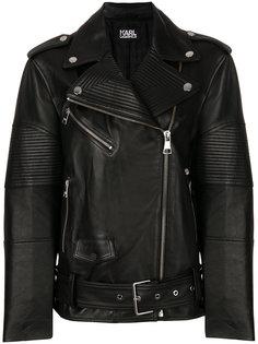 байкерская куртка свободного кроя Karl Lagerfeld