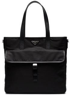 сумка-тоут с двумя карманами Prada