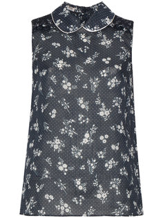sleeveless ditsy micro-dotted blouse Miu Miu