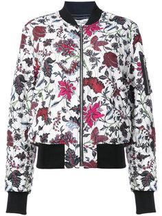 куртка-бомбер с цветочным принтом Dvf Diane Von Furstenberg