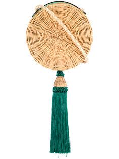 круглая плетеная сумка с кисточкой Wai Wai
