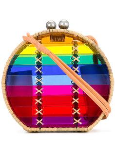 круглая плетеная сумка с полосками Wai Wai