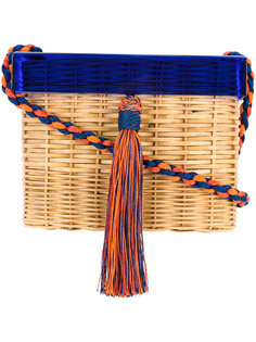 квадратная плетеная сумка на плечо Wai Wai