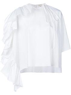 блузка-кейп с оборками Delpozo