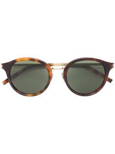 классические круглые солнцезащитные очки Saint Laurent