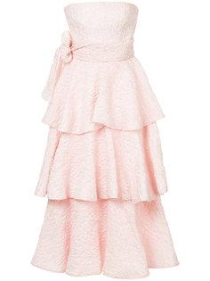 платье Rosa с рюшами Bambah