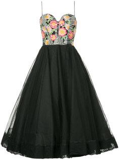 платье из тюля с цветочным принтом Bambah