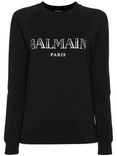 толстовка с длинными рукавами с принтом логотипа Balmain