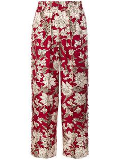 брюки с цветочным рисунком La Doublej