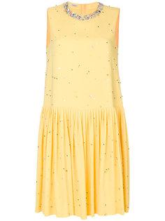 платье с бусинами Miu Miu