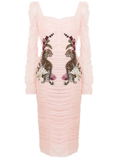 платье из тюля с драпировками Dolce & Gabbana