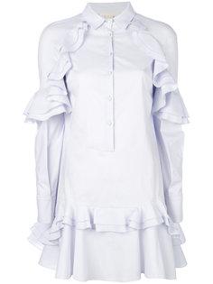 платье-рубашка с оборками Antonio Berardi