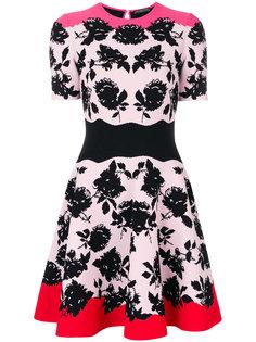 жаккардовое платье с цветочным принтом  Alexander McQueen