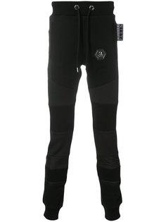 спортивные брюки с заплаткой с черепом Philipp Plein