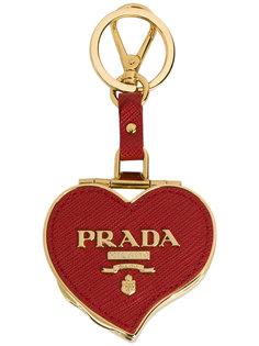 брелок для ключей в виде сердца Prada