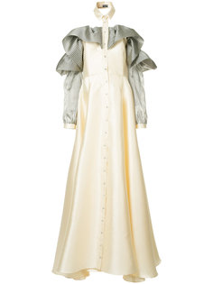 платье с оборками на рукавах Alexis Mabille