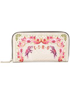 кошелек с принтом Circus Etro