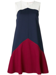 """расклешенное платье Willa дизайна """"колор-блок"""" Tory Burch"""