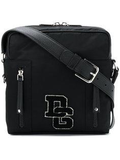 сумка-почтальонка с заплаткой с логотипом  Dolce & Gabbana