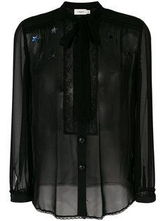 блузка с завязками на горловине Coach