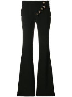асимметричные расклешенные брюки Chloé