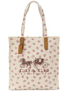 сумка-тоут с цветочным принтом  Coach