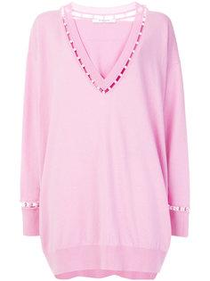 свитер оверсайз с жемчужными деталями Givenchy