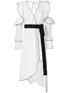 asymmetric wrap dress Self-Portrait
