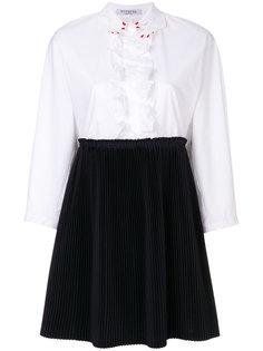 платье-рубашка с плиссированным подолом Vivetta