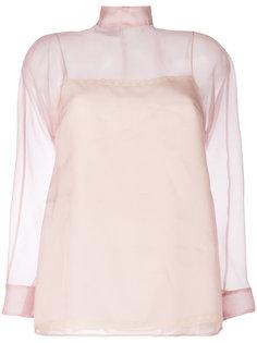 прозрачная блузка Prada
