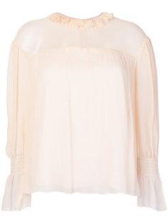 блузка с рюшами на вырезе See By Chloé