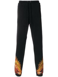 спортивные брюки Flame  Marcelo Burlon County Of Milan